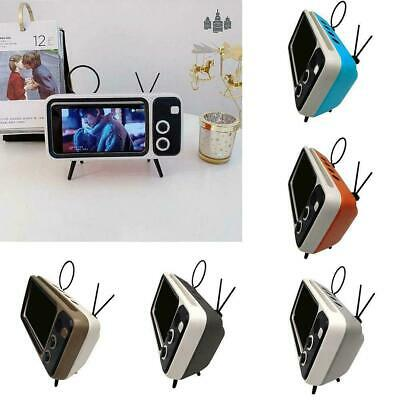 Retro Shaped Wireless Bluetooth Speaker With Mobile Holder Phone Portabl H4Z1
