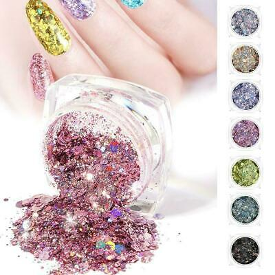 Chunky Mixed Glitter Pot-Nail Face Eyes Body Tattoo Club Dance Cosmetic Fes H2W0