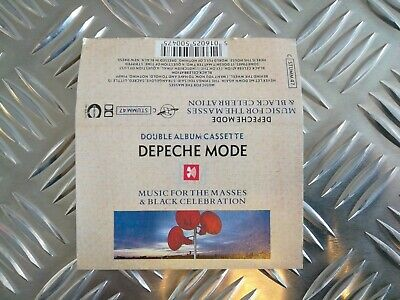 DEPECHE MODE Music For The Masses / Black Celebration UK ltd cassette CSTUMM47
