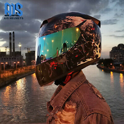 Full Face Motorcycle Helmet Double Lens Casco Casque Motorbike Racing Helmets
