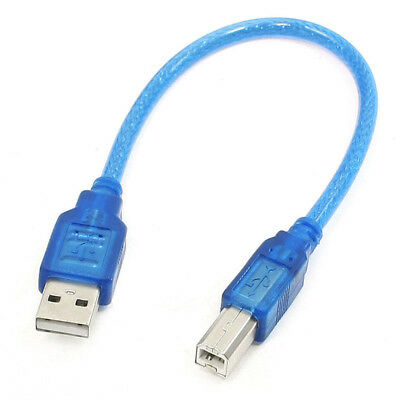 1FT SHORT Type A Male To Type B Male USB 2.0 Printer Scanner Cables Blue
