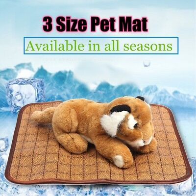 3 Size Pet Cooling Mat Pad Bed Summer Weather Dog Cat Puppy Breathable Cushion