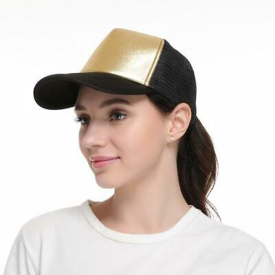 Fashion Baseball Caps Women Girl Glitter Ponytail Baseball Cap Bronzing Hot Silv