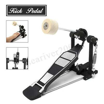 Drum Pedal Single Bass Drum Foot Kick Pedal Percussion Single Chain Drive  NEW