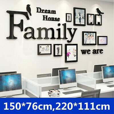 3D Family Photo Frame Pictures Wall Sticker Collage Dream Home Decor Art Office