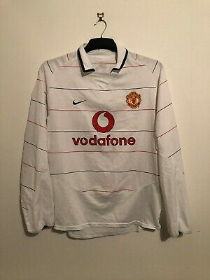 Scholes Manchester United Third Football Shirt M 2003/05 Medium Away Long Sleeve