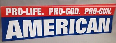 WHOLESALE LOT OF 10 PRO LIFE GOD GUNS AMERICAN BUMPER STICKERS Trump $ president