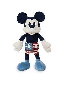 "Mickey Mouse Americana America Plush Set 12 1/2"" 2019 Disney Parks Exclusive NEW"