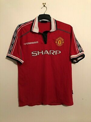 Manchester United HOME XL Football Shirt 1998/00 Extra Large 98/00