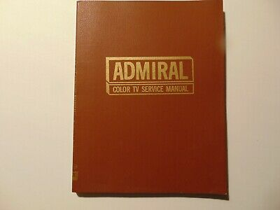 ADMIRAL Color TV service manual 1970 1st Edition