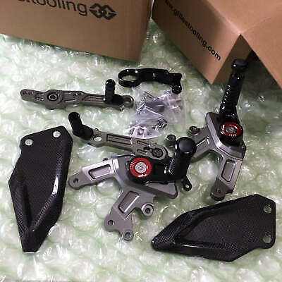 HP Adjustable Rearsets fit 2015 2016 S1000RR HP4 Gilles Footpegs System OEM