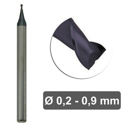 AlTiN End Mill Coating Carbide Milling Cutter 2 Teeth Cylindrical handle