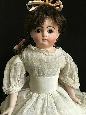 """ANTIQUE rare closed mouth early Simon Halbig Belton Cabinet Bisque Bebe 13"""""""