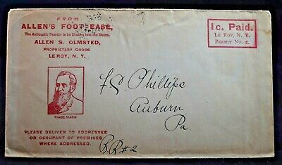 Medicine & Science Le Roy NY Allen's Foot Ease Genesee County Early Advertising