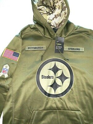 best service 05a54 ff2a6 NIKE PITTSBURGH STEELERS NFL Salute To Service Hoodie Sz XL