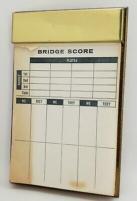 Park Sherman Bridge Score Card Holder Vintage Made In New Jersey USA