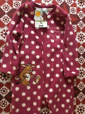Gruffalo fleecy all in one from Tu, pink with white spots, size 18-24, BNWT