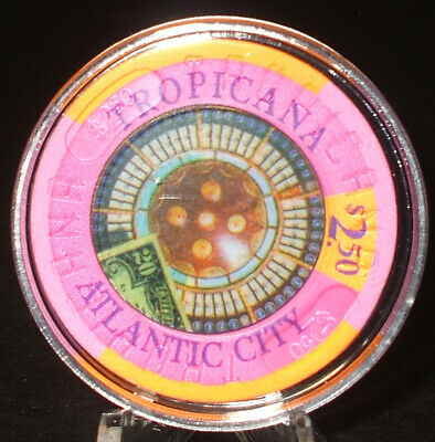 (1) $2.50 Tropicana CASINO CHIP - ATLANTIC CITY, New Jersey - 1980s