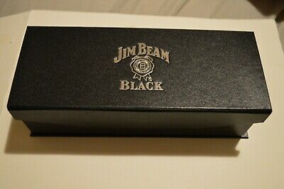 Jim Beam Black Shot Glasses Set of 3 Collectible Brand New.