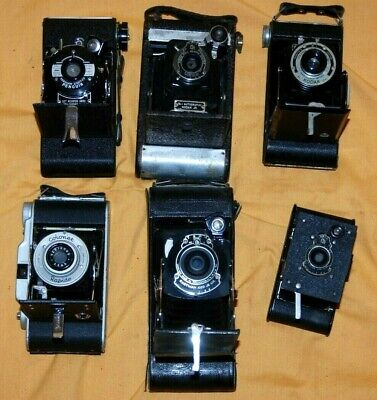A Collection Of 6 X Vintage Folding Cameras #13