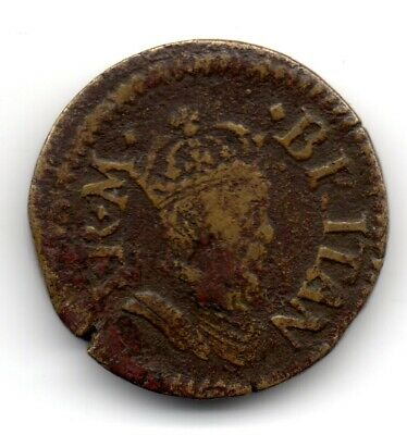 UNKNOWN Coin Weight Groat King James Circa 1600 Unusual XI S Gold Double Crown