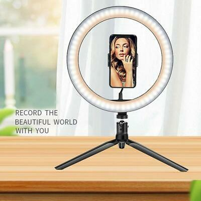 Studio Photo Video Dimmable Lamp LED Ring Light Tripod Stand Selfie Camera Phone