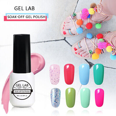 Gel Lab UV LED Soak Off Pastel Nail Gel Polish Manicure Varnish Top Base Coat