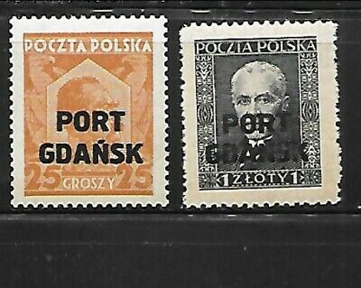 POLAND - OFFICES IN DANZIG Sc 1K18-9 NH issue of 1928 - OVERPRINTS