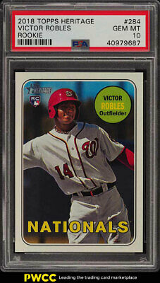 2018 Topps Heritage Victor Robles ROOKIE RC #284 PSA 10 GEM MINT (PWCC)