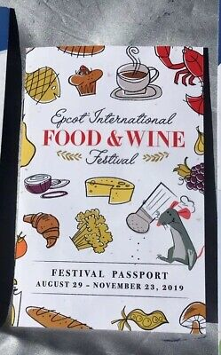 EPCOT 2019 Food And Wine Festival Passport With Stickers Disney World WDW F&W
