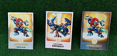 Skylanders Giants Trading Cards Individual lightcore and gaints cards  rare