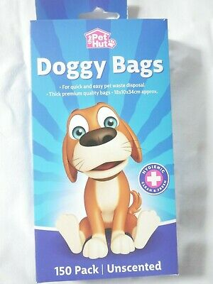 150 The Pet Hut Doggy Poo Bags Large Thick Dog Poo Tie Handle Waste Disposal