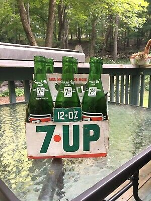 1970s 7 UP 6 PK Cardboard Carrier New Old Stock Unused