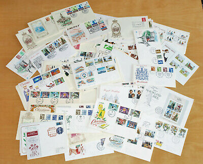 65 Clean First Day Covers FDC 1970s Definitives, Pictorals, Regionals etc (Lot3)