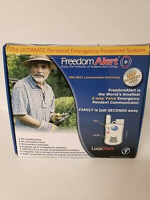 LogicMark Freedom Alert 35511 Personal Emergency Response System - No Fees