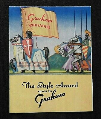 "1936 ""The Style Award Goes To Graham Crusader"" Sales Brochure Fold-Out Poster"