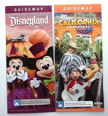 Disneyland fall 2019 Guide Map Set Halloween Mickey and Minnie & DCA Coco