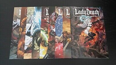 Lady Death Between Heaven and Hell #2 1995 FN Stock Image