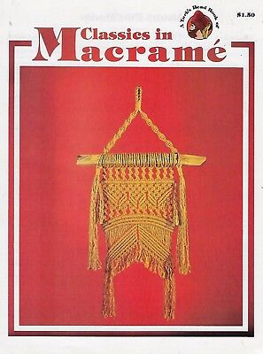 Classics in Macrame Vintage 1970s Wall Hanging & Plant Hanger Patterns Book PP16