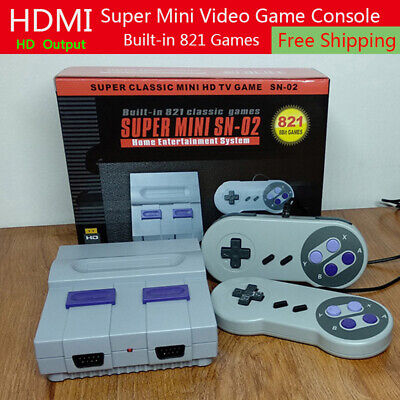 Super Nintendo Classic Edition Console	Built In 821 Games 8Bit HDMI Output 2019