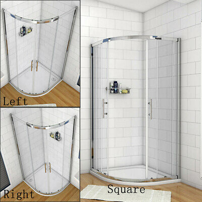 Offset Quadrant Shower Enclosure Corner Cubicles and Tray-800/900/1000/1200mm