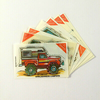 "1980s Nabisco ""STOMPERS"" LOT OF 7 PLASTIC CARDS (Shrinkies?)"