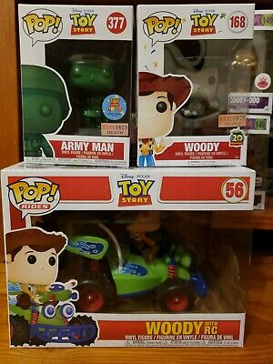 Funko POP! TOY STORY LOT Army Man ,Woody , and woody with RC