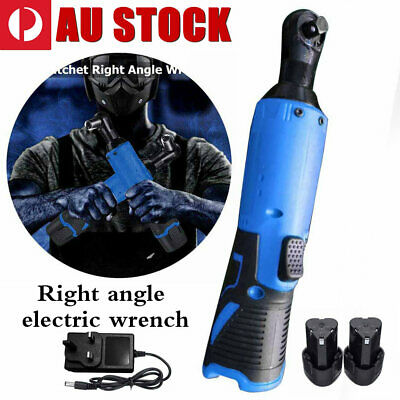 3/8'' 12V Blue 65Nm Electric Cordless Right Ratchet Angle Wrench Tool + Battery