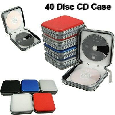 40 Disc Double-side CD Storage Sleeve Case Organizer Holder Hard Box Wallet New