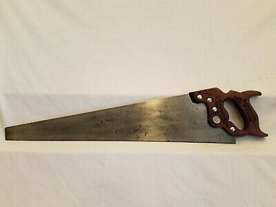 "Vintage 26"" Disston D-42 Victory Crosscut Saw Woodworking Tool Collect or Use"