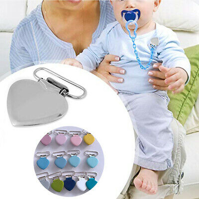Heart Shape Feeding Accessory Baby Holder Pacifier Clip Clamp Suspender Iron