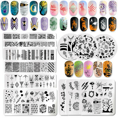 PICT YOU Halloween Nail Art Image Stamping Plates Printing Templates Flowers DIY