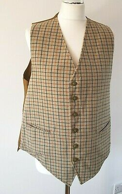 Vintage Hunting Waistcoat By Chris Dawes Reversible With Fox Head Buttons 44""