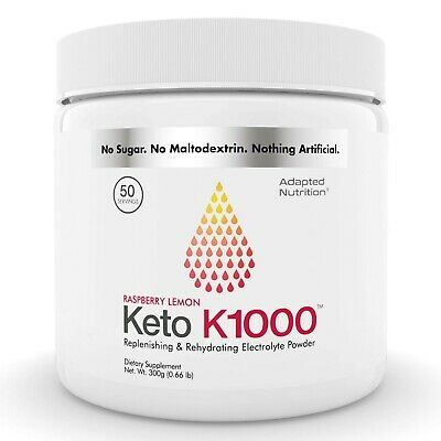 Keto K1000 Electrolyte Powder | Boost Energy & Beat Leg Cramps 50 Servings